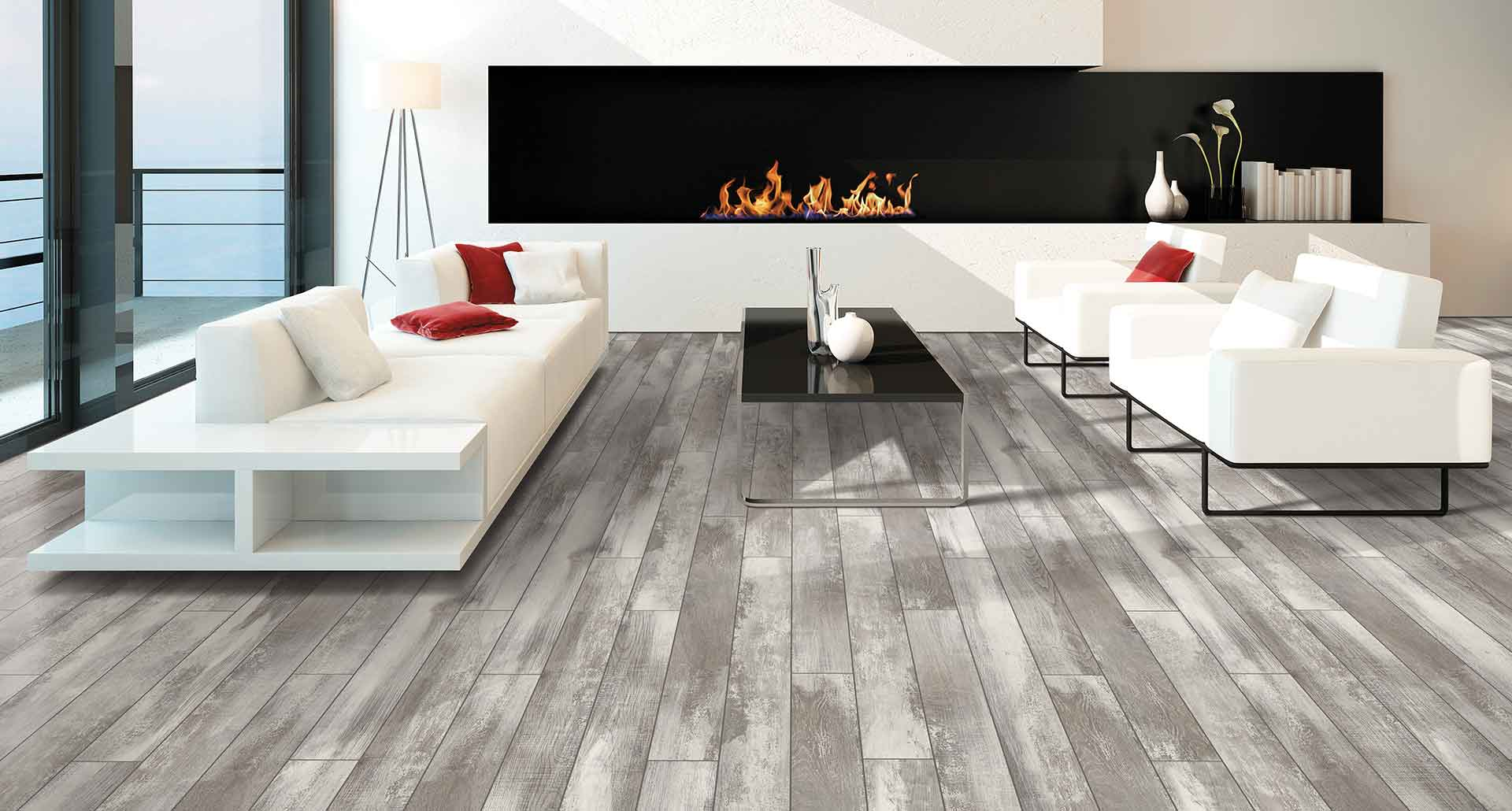 Beautiful Grey Laminate Flooring