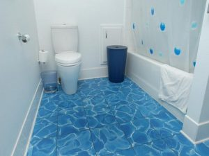 Simple Bathroom Tile Flooring